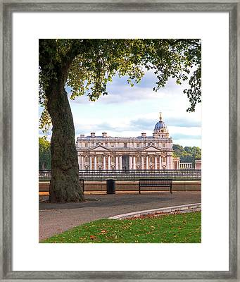 Old Royal Naval College Greenwich Framed Print by Gill Billington
