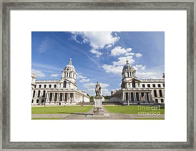 Old Royal Naval College In Greenwich Framed Print by Roberto Morgenthaler