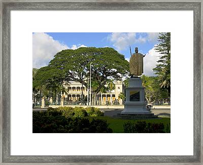 Old Royal Palace Honolulu Framed Print