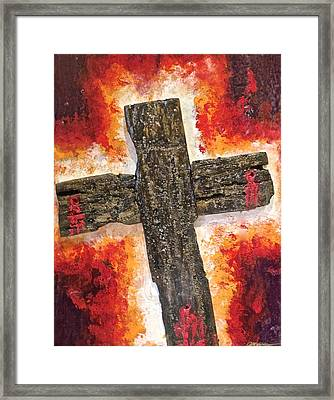 Old Rugged Cross Framed Print