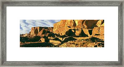 Old Ruins At Archaeological Site Framed Print