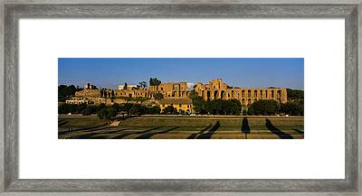Old Ruins Of A Building, Roman Forum Framed Print