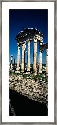 Old Ruins Of A Built Structure Framed Print by Panoramic Images