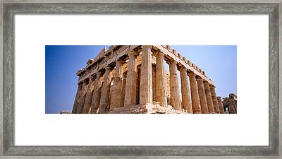 Old Ruins Of A Temple, Parthenon Framed Print by Panoramic Images