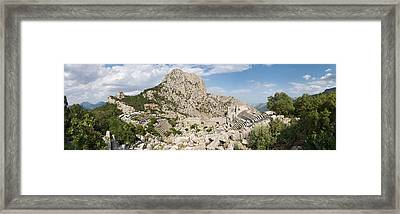 Old Ruins Of An Amphitheater Framed Print by Panoramic Images