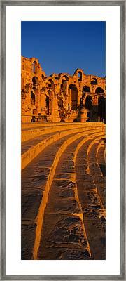 Old Ruins Of An Amphitheater, Roman Framed Print