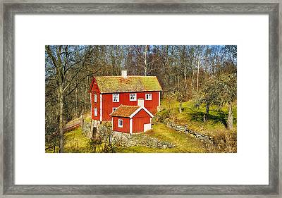 Old Rural 16th Century Cottage Framed Print by Christian Lagereek