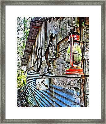 Old Rustic Building - Aunt Tinys Shed  Framed Print by Rebecca Korpita