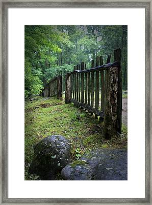 Old Rustic Fence Framed Print