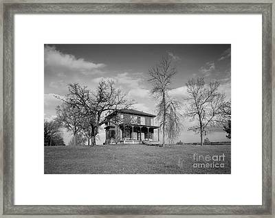 Old Rustic House On A Hill Framed Print