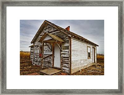 Old Rustic Rural Country Farm House Framed Print
