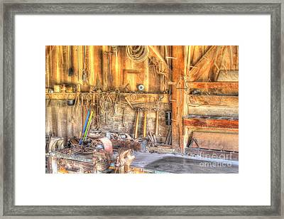 Old Rustic Workshop Framed Print