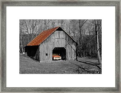 Old Rusty Barn  Framed Print