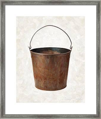 Old Rusty Bucket Framed Print by Danny Smythe