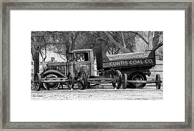 Old Rusty Coal Delivery Truck  Framed Print by Gary Whitton