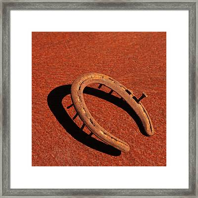 Old Rusty Horseshoe Framed Print by Art Block Collections