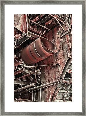 Old Rusty Pipes Framed Print by Paul Ward