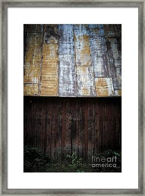 Old Rusty Tin Roof Barn Framed Print by Edward Fielding