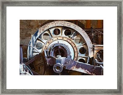 Old Rusty Vintage Industrial Machinery Framed Print by Dirk Ercken