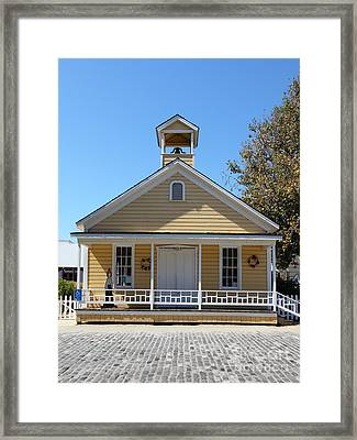 Old Sacramento California Schoolhouse 5d25543 Framed Print by Wingsdomain Art and Photography