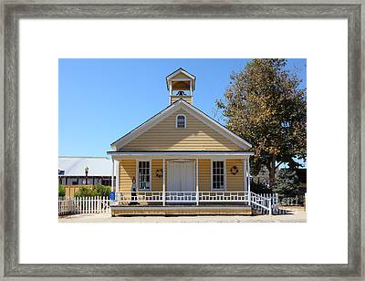 Old Sacramento California Schoolhouse 5d25544 Framed Print by Wingsdomain Art and Photography