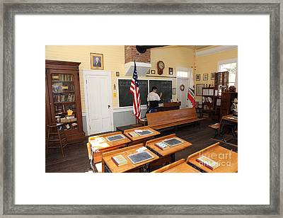 Old Sacramento California Schoolhouse Classroom 5d25780 Framed Print by Wingsdomain Art and Photography