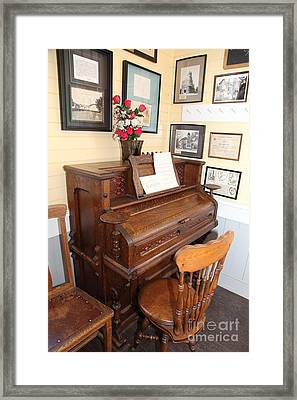 Old Sacramento California Schoolhouse Piano 5d25783 Framed Print by Wingsdomain Art and Photography