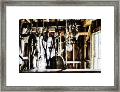Old Sailboat Rigging  Framed Print by George Oze