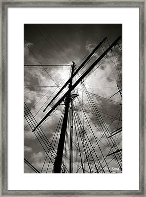 Old Sailing Ship Framed Print by Alex King