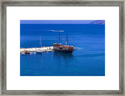 Old Sailing Ship In Bali Framed Print