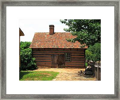 Winston-salem Nc - Old Salem Cottage Framed Print by Frank Romeo