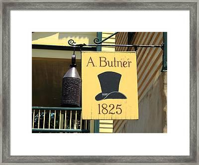 Winston-salem Nc - Old Salem Hat Shop Framed Print by Frank Romeo