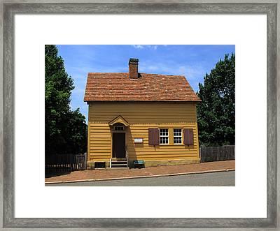 Winston-salem Nc - Old Salem Store Framed Print by Frank Romeo