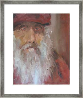 Old Salt Christo At 80 Framed Print by Susan Richardson