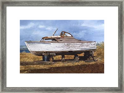 Framed Print featuring the painting Old Salt by Tom Wooldridge
