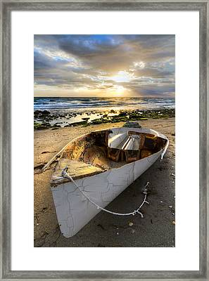 Old Salty Framed Print by Debra and Dave Vanderlaan