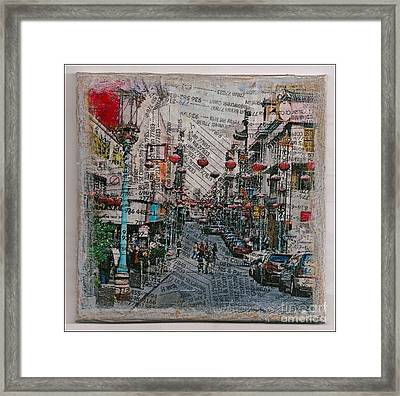 Old San Francisco China Town Framed Print by Ruby Cross