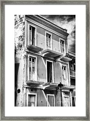 Old San Juan Architecture Framed Print by John Rizzuto