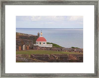 Old San Juan Framed Print by Daniel Sheldon
