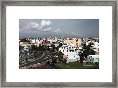 Old San Juan Framed Print by John Rizzuto