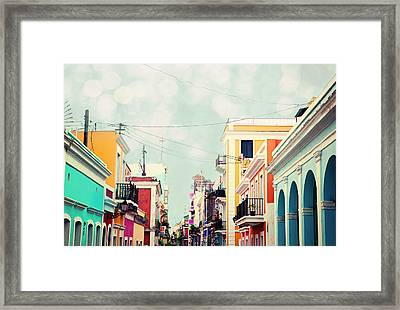 Old San Juan Special Request Framed Print by Kim Fearheiley