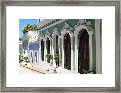 Old San Juan Street Framed Print by The Art of Alice Terrill
