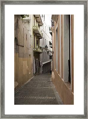 Old San Juan Street Framed Print
