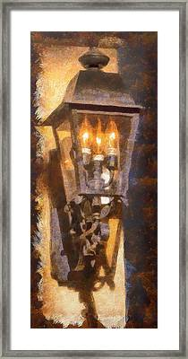 Old Santa Fe Lamp Framed Print
