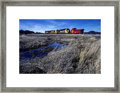 Framed Print featuring the photograph Old Sante Fe Waits In Williams Arizona by David Bailey