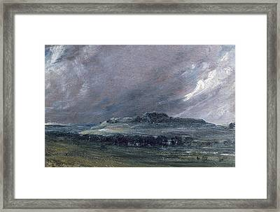 Old Sarum Framed Print by John Constable