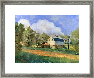Old Saunders Barn Framed Print by Jeff Brimley