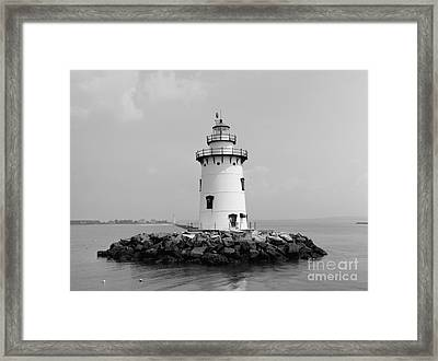 Old Saybrook Connecticut Lighthouse Framed Print by Edward Fielding