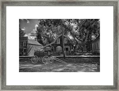 Old Scene-baker Wagon Framed Print by Darcy Michaelchuk