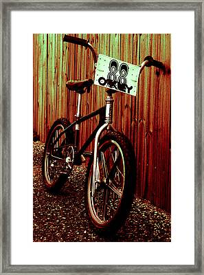 Old School Bmx - Jag Framed Print by Jamian Stayt